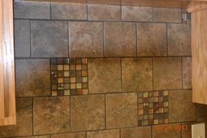 Some of Daniel's handiwork the tile design.