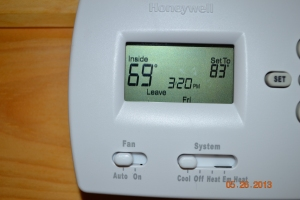 Energy efficiency in action. Outside temp high 80's inside temp with no A/C.